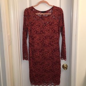 Spicy night out lace dress with underlining